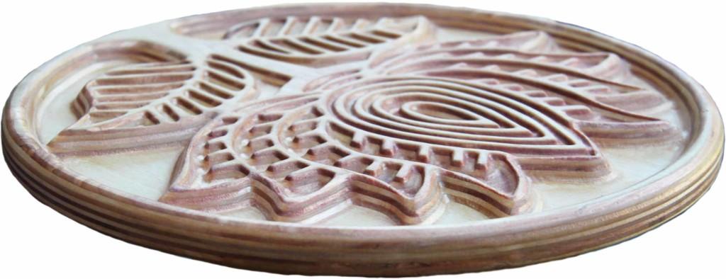 КБ Рукоделки: резьба по дереву, изделия из дерева на заказ Подставка под горячее Лотос