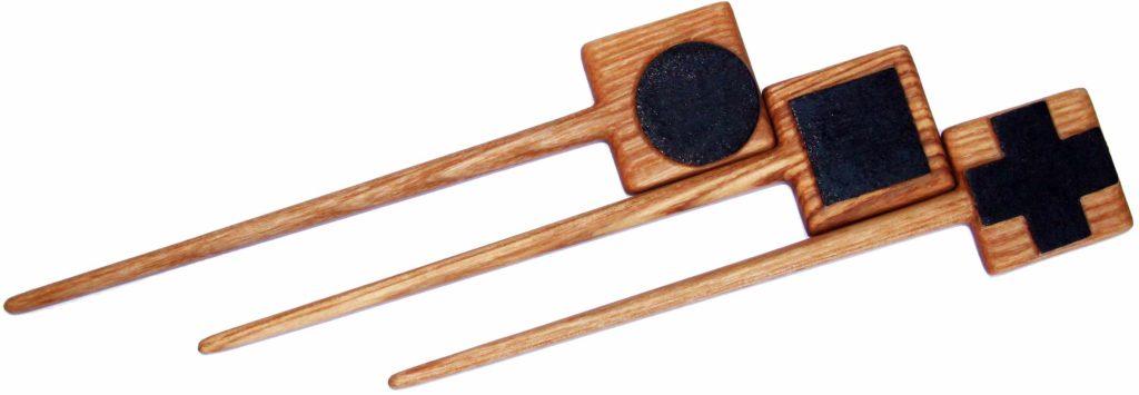 """КБ Рукоделки: подарки и изделия из дерева на заказ Комплект шпилек для волос """"Малевич"""""""