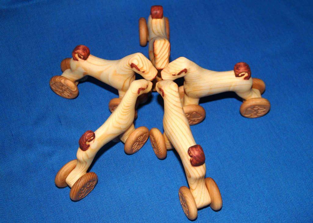 КБ Рукоделки: подарки и изделия из дерева на заказ Деревянная игрушка «Собака-каталка»