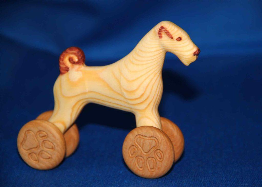 КБ Рукоделки: подарки из дерева, изделия из дерева на заказ Деревянная игрушка собака-каталка