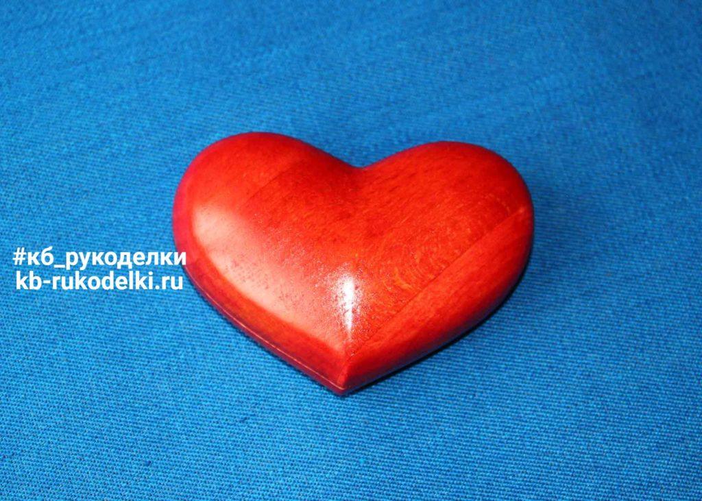КБ Рукоделки: подарки и изделия из дерева на заказ Деревянная шкатулка «Сердце»