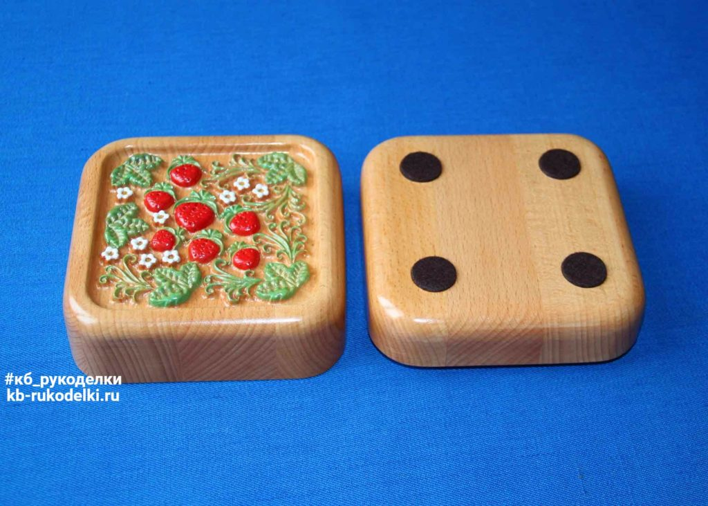 КБ Рукоделки: подарки из дерева, изделия из дерева на заказ Деревянная шкатулка «Хохлома»
