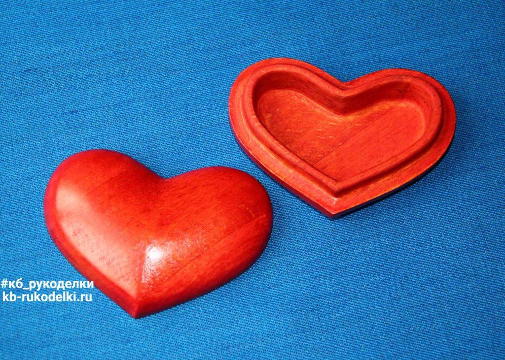 КБ Рукоделки: подарки из дерева, изделия из дерева на заказ Деревянная шкатулка «Сердце»